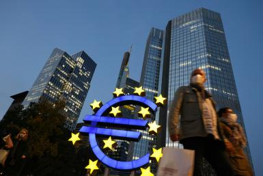The ECB may revise down growth forecasts for this year as Europe's pandemic rebound lags other major economies