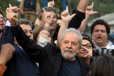Former Brazilian president Luiz Inacio Lula da Silva, shown here in 2019, has had his graft convictions overturned