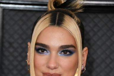 Dua Lipa, shown here at the Grammys in 2020, is among the show's top contenders this time out