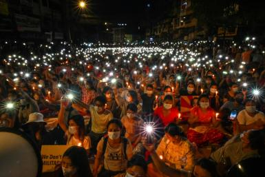 The country has been in turmoil since the military ousted civilian leader Auung San Suu Kyi from power in a February 1 putsch