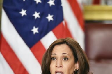 """US Vice President Kamala Harris, speaking before a virtual bilateral summit with Ireland on March 17, 2021, has called the situation on the Mexican border a """"huge problem."""""""