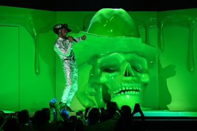Lil Nas X performs onstage during the Grammy Awards in January 2020