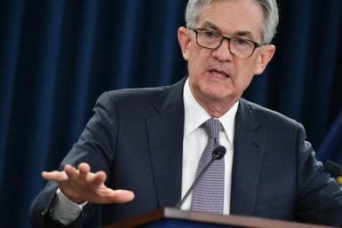 Jerome Powell said the US economy was on a strong recovery path but that the virus continued to pose a threat