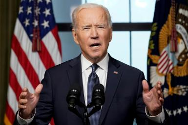 "In a national televised address, US President Biden said it was time to end ""the forever war"""