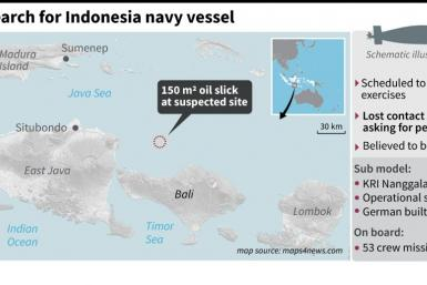 Factfile on the search for a missing submarine in Indonesia that lost contact on April 21, with 53 on board.
