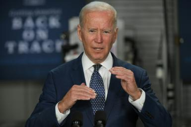 Biden, pictured on May 3, 2021, campaigned on promises to restore more traditional US policies but backtracked after his government ran into difficulties handling a surge in migrants