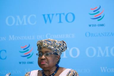 "World Trade Organisation Director-General Ngozi Okonjo-Iweala (pictured April 2021) told country representatives that the way the WTO handles ensuring equal access to Covid-19 vaccines is ""critical"""