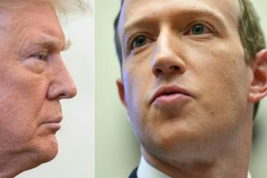 A decision by an independent oversight board to uphold Facebook's ban on former US president Donald Trump (L) leaves the social network's CEO Mark Zuckerberg (R) holding the ball on the final decision