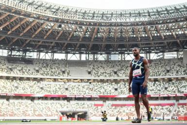Justin Gatlin of the US has set his sights on winning another Olympic gold at the Tokyo Games -- and won't rule out continuing his career into his 40s