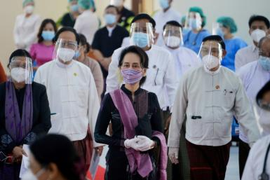 Aung San Suu Kyi has not been publicly seen since she was detained in a February 1 coup, when the military ousted her from power and re-installed the country under junta control
