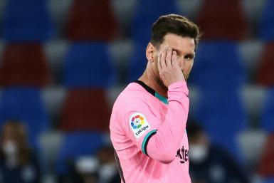 Lionel Messi could not prevent Barcelona drawing away at Levante on Tuesday.
