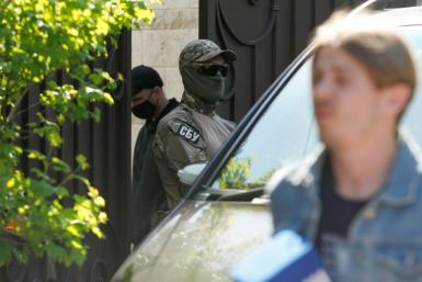 Ukraine's SBU security service said it was carrying out the search