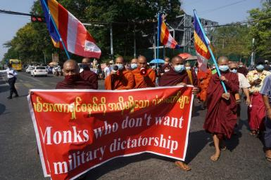 Some monks have this year defied religious edicts against political activity
