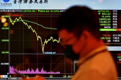 Taiwan's stock exchange has plummeted with investors fretting over new coronavirus concerns and a global tech selloff