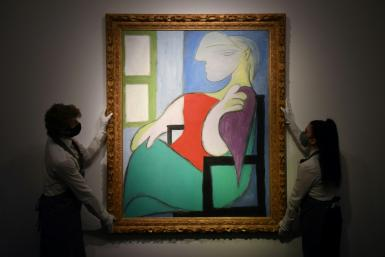 The painting 'Femme assise près d'une fenêtre (Marie-Thérèse)' is the fifth one by Pablo Picasso to sell for more than $100 million