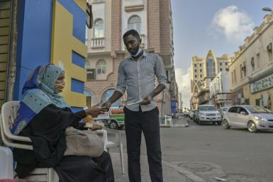 Trade in Djibouti's capital would go much less smoothly without the 'sarifley' money changers