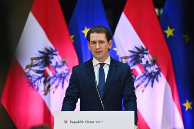 Austrian Chancellor Sebastian Kurz, once haoled as a 'wunderkind'has seen his image dented