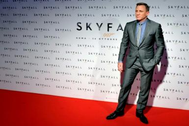 "British actor Daniel Craig poses during the photocall for the James Bond film ""Skyfall"" on October 26, 2012 in Rome"