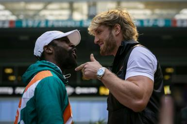 Former boxing champ Floyd Mayweather cruised through eight rounds of exhibition boxing against YouTube celebrity Logan Paul at Hard Rock Stadium, in Miami, Florida