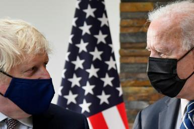 Boris Johnson (L) has welcomed Joe Biden to England for the G7 summit in Cornwall, where leaders will discuss a range of issues including China. They have already pledged a billion doses of vaccine to the world's poorest countries