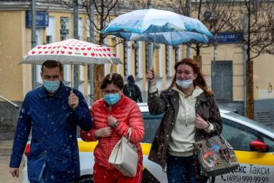The order affects all employees in the Russian capital, a city of 12 million, except for essential workers