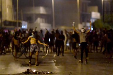 This was the latest of several nights of protests in the district following the death of a youth