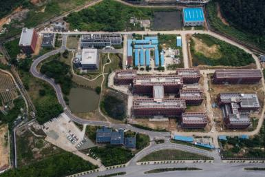 Aerial view of the P4 laboratory (centre L) on the campus of the Wuhan Institute of Virology in Wuhan in China's central Hubei province in May 2020. Opened in 2018, the P4 lab conducts research on the world's most dangerous diseases and has been accused b
