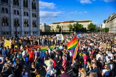 More than 5,000 people rallied outside parliament on Monday against the legislation