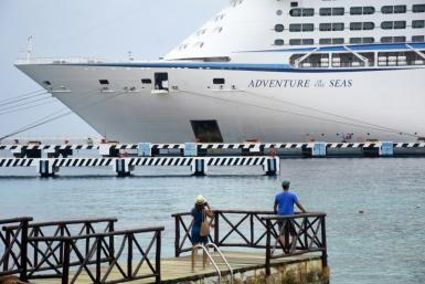 The Adventure of the Seas is the first cruise ship to arrive in Mexico's Caribbean coast since the pandemic struck
