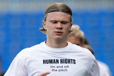 Star forward Erling Braut Haaland and his Norway teammates wore these t-shirts before a World Cup qualifying match