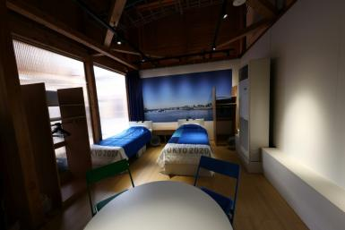 Beds at the Village are made out of recyclable cardboard