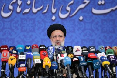 Iran's President-elect Ebrahim Raisi speaks during his first press conference in the Islamic republic's capital Tehran, on June 21, 2021