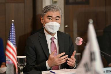US Special Representative for North Korea Sung Kim spoke with South Korean and Japanese counterparts in Seoul