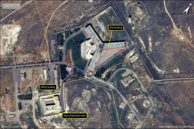 This file handout satellite image shows Syria's notorious Sednaya prison. A booming trade has emerged for 'fixers' offering to help families locate or save their loved ones from a murky web of regime jails infamous for torture