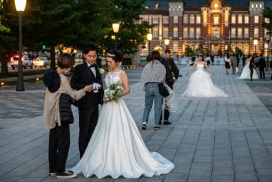 Most Japanese couples take the husband's surname after marriage