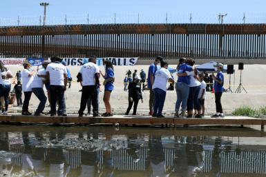 US Vice President Kamala Harris travels to the US-Mexico border on June 25, 2021 -- just days before former president Donald Trump makes his own visit there to highlight the contrast between his border policies and those of President Joe Biden