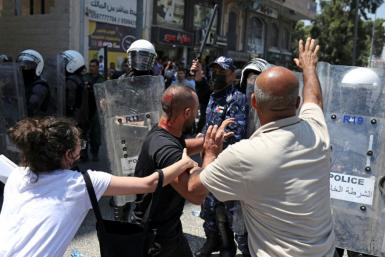 News of Banat's death sparked angry protests in the West Bank city of Ramallah