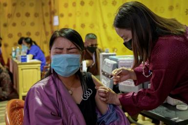 Bhutan has inoculated most of its eligible population with second doses of Covid-19 vaccinations in a week