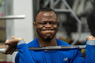 Cameroon-born weightlifter Cyrille Tchatchet II has found a new home in Britain -- and a place in the Olympic Refugee Team