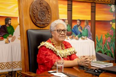 Fiame Naomi Mata'afa is the first woman to become prime minister of Samoa, taking office after a bitter impasse