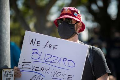 Employees of the video game company, Activision Blizzard, walked off the job in protest and those working remotely were asked to join virtually