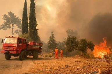 Blazes that erupted Wednesday to the east of the tourist hotspot Antalya on Turkey's scenic southern coast have officially killed four people and injured nearly 200