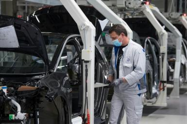 Bottlenecks in the supply of components helped slow growth in Germany's economy