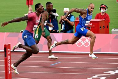 Italy's Lamont Marcell Jacobs was a surprise winner of the Olympic men's 100 metres