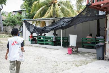 The Doctors Without Borders hospital in Martissant, a neighborhood of Port-au-Prince, the capital of Haiti, on May 31, 2021