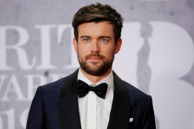 This photo taken on February 20, 2019, shows British comedian, actor and host Jack Whitehall poses on the red carpet on arrival for the BRIT Awards 2019 in London