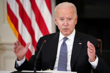 President Joe Biden is touting his record on the pandemic as the Delta variant surges