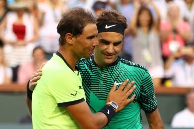 Old pals act: Roger Federer and Rafael Nadal first clashed in 2004