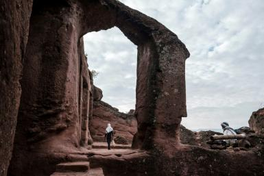 World heritage: The church of St. Mercurius is one of Lalibela's rock-hewn treasures (2019 file picture)