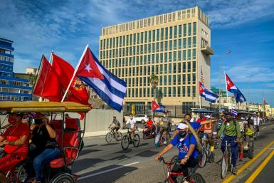 """The US Embassy building in Havana, where US diplomats experienced the first apparent """"Havana Syndrome"""" attacks, which some experts attribute to targeted microwaves"""